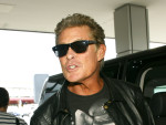 David Hasselhoff at Tegel Airport