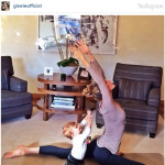 Gisele Bundchen, Daughter Vivian Do Yoga
