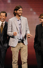 Ashton Kutcher, Two and a Half Men Cast