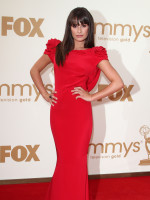 Lea Michele at the 2011 Emmys