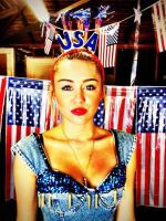 Miley Cyrus Fourth of July Photo