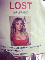 Man Posts Wanted Poster for Scarlett Johansson