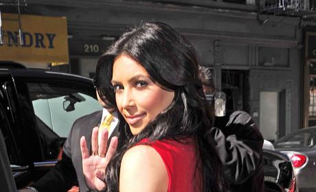 Kim Kardashian, Big Booty, Attend Grammy Party