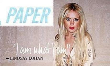 Lindsay Lohan Poses for Paper Magazine