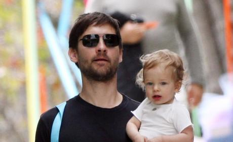 First Pictures of Ruby Sweetheart, Daughter of Toby Maguire