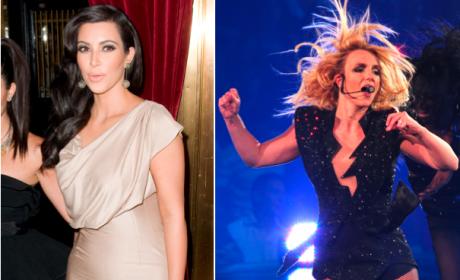 Kim Kardashian, Britney Spears