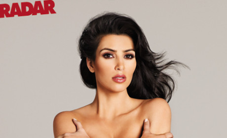 Kim Kardashian Topless, Impersonating Brooke Shields