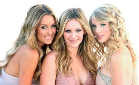 Lauren Conrad, Hilary Duff, Taylor Swift
