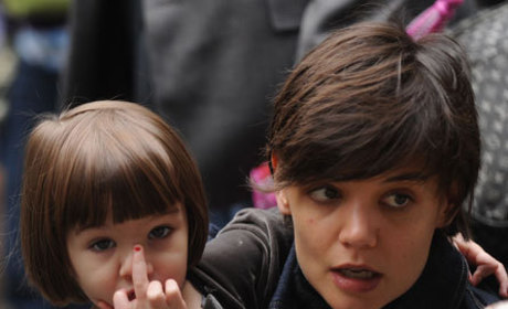 Suri Cruise with Her Mom