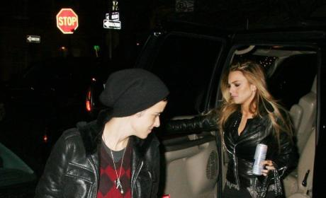 Lindsay Lohan and Samantha Ronson at Beatrice Inn