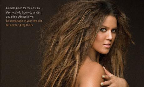 Khloe Kardashian: Nude for PETA