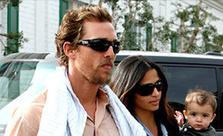 Adorable Family Sighting: Matthew McConaughey, Camila Alves and Little Levi