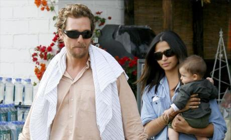 Matthew McConaughey to Camila Alves, Levi: Hook Your Horns!