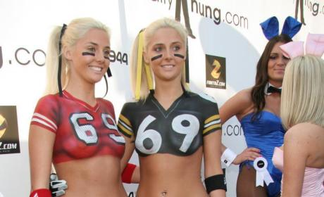 Karissa and Kristina Shannon: 69 at the Super Bowl!