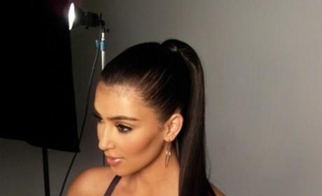 Kim Kardashian: Workout Video Pics