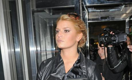 Jessica Simpson: With Leather