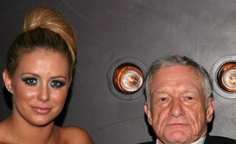 Aubrey O'Day and Hugh Hefner