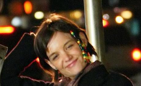 Katie Holmes' Beaded Hair