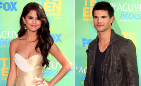 Selena Gomez and Taylor Lautner: Cute and Cozy Together