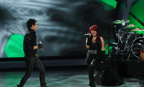 Adam Lambert and Allison Iraheta