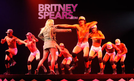 Britney Spears, Dancers Get Naked ... Almost