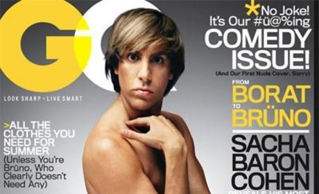 Sacha Baron Cohen Brings Bruno Nude to GQ