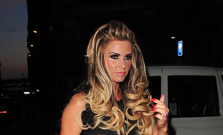 Katie Price Hits Club, Shows Thong, Flirts with Matt Peacock