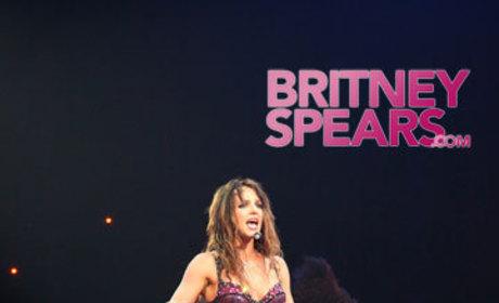 Britney on Knees