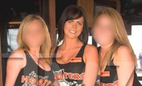Samantha Burke and Hooters Girls