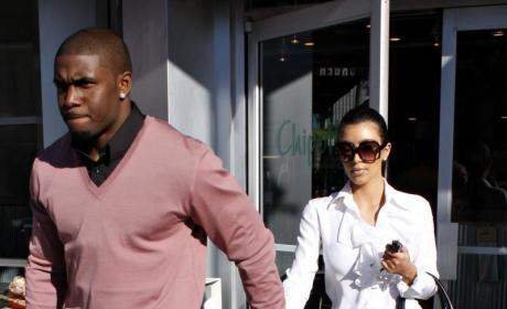 Spotted Together: Kim Kardashian and Reggie Bush!