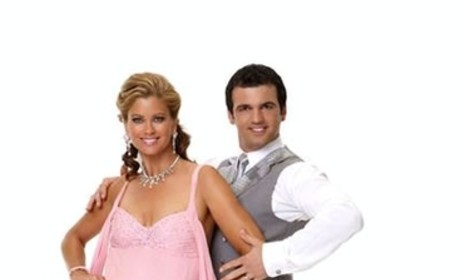 Kathy Ireland and Tony Dovolani