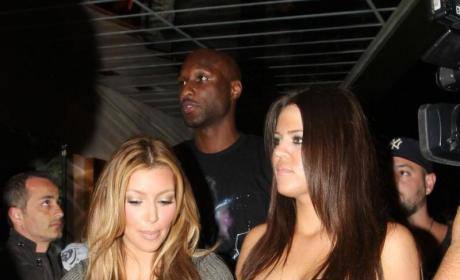 Lamar, Kim and Khloe