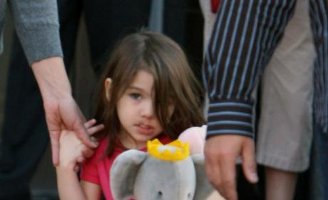 Suri Cruise, Grandma Engage in Staring Contest