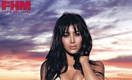 Kim Kardashian Bares Bikini Body in FHM