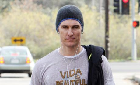 Awww Alert: Matthew McConaughey Gives Newborn a Shirt Out