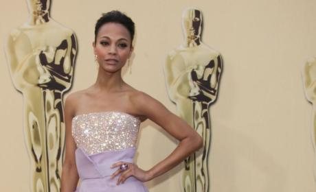 Zoe Saldana Earns Academy Award for Worst Dressed