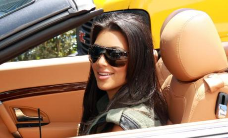 Kim Behind the Wheel
