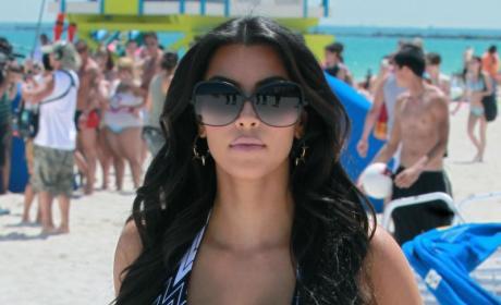 Kim Kardashian Gets All Wet