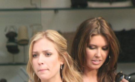 Lo, Stephanie and Audrina Film Scenes for The Hills, Look Confused