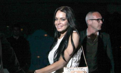 Lindsay Lohan Sure Cannes Make a Scene