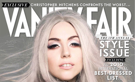 Lady Gaga in Vanity Fair: Gray-Haired, Gregarious