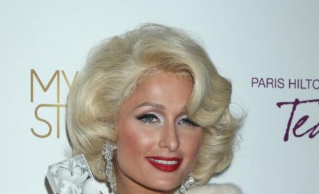 Paris Hilton Launches Fragrance, Makes Like Marilyn Monroe