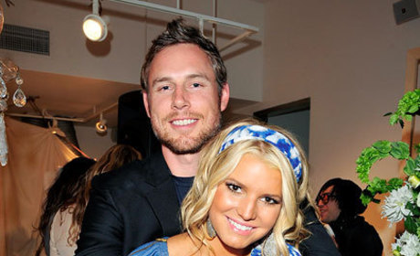 Jessica Simpson Shows Off Boyfriend, Self-Designed Dress