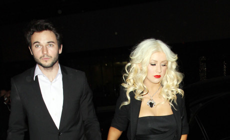 Christina Aguilera at Jeremy Renner Birthday Party: Wasted!