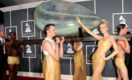 Lady GaGa Grammys Fashion: Eggcellent?