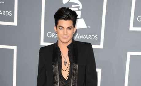 Adam Lambert at the Grammys