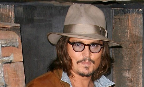 Celebrity Facial Hair Affair: Johnny Depp Sort of Shaves!