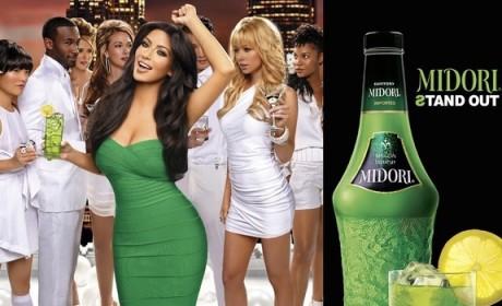 Kim Kardashian, Breasts Shill for Midori