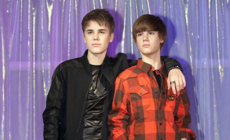 Justin Bieber and Wax Justin Bieber