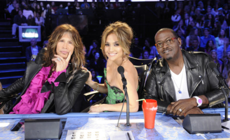 Steven Tyler, J. Lo and Randy Jackson